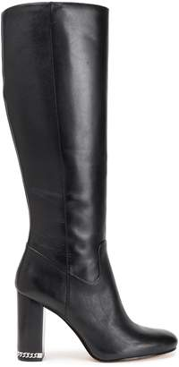 MICHAEL Michael Kors Chain-trimmed Leather Knee Boots