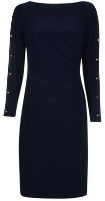 Lauren Ralph Lauren Occasion Sagie Long Sleeve Day Dress
