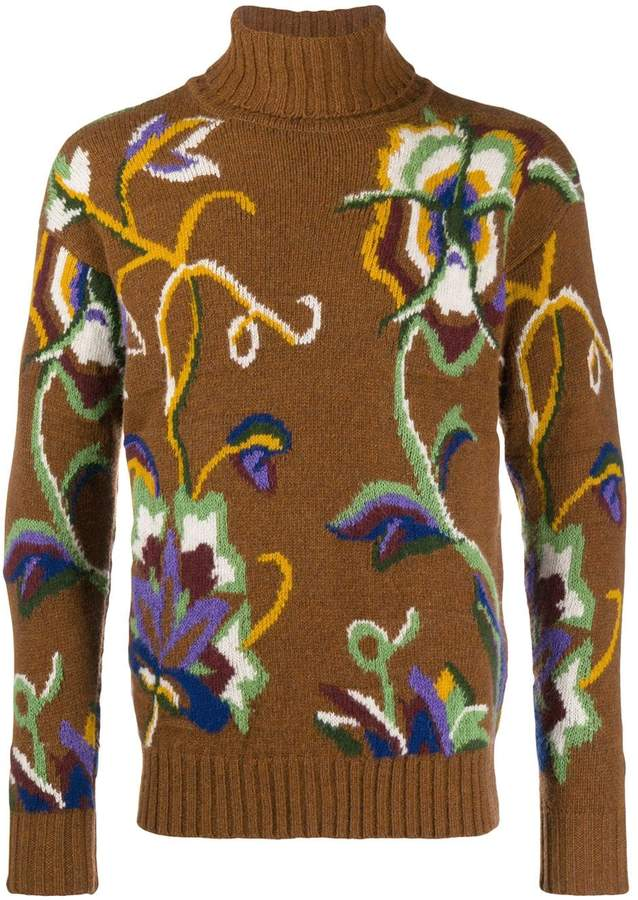 Etro floral embroidered sweater