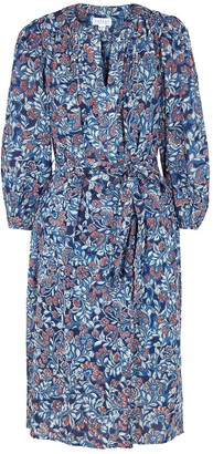 Velvet by Graham & Spencer Beau blue floral-print cotton dress