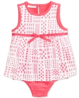First Impressions Patchwork-Print Cotton Skirted Romper, Baby Girls (0-24 months)