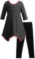 Youngland Girls 4-6x Striped Pom-Pom Tunic & Leggings Set