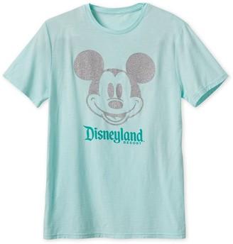 Disney Mickey Mouse Glitter T-Shirt for Adults Disneyland Arendelle Aqua