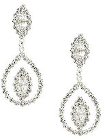 Cezanne Navette Rhinestone Statement Earrings