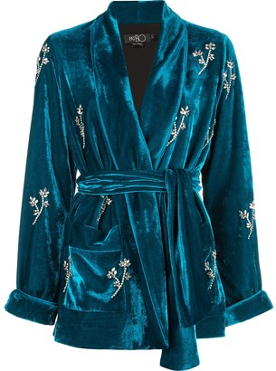 PatBO Beaded Velvet Robe Jacket