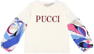 Emilio Pucci Kids Sequined printed cotton shirt