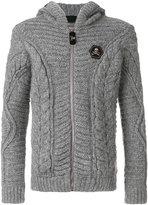 Philipp Plein cable knit zipped hoodie - men - Polyamide/Alpaca/Merino - M