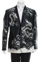 Dolce & Gabbana Dragon Print One-Button Blazer w/ Tags