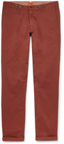 Barena Rampin Stino Stretch-cotton Twill Trousers - Brick