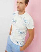 POKET Flamingo print cotton Tshirt