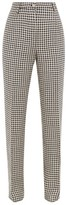 Giuliva Heritage Collection The Altea Houndstooth Linen Trousers - Womens - Navy White