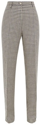 Giuliva Heritage Collection The Altea Houndstooth Linen Trousers - Navy White