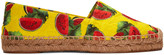 Dolce & Gabbana Yellow Watermelon Espadrilles