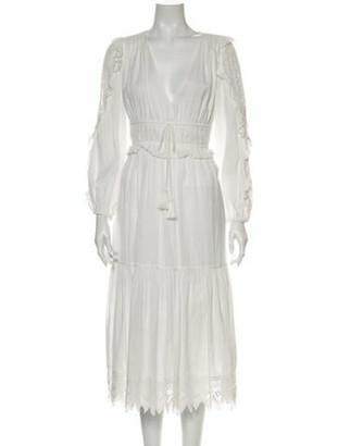 Ulla Johnson V-Neck Long Dress White