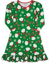 "Sara's Prints HO HO HO"" COTTON-BLEND NIGHTGOWN"