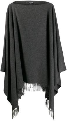 Moschino fringed hem knit poncho