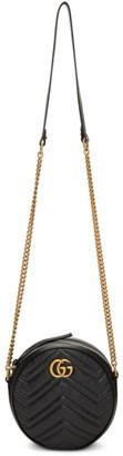 Gucci Black Mini GG Marmont Round Bag