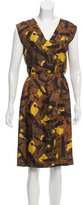 Dries Van Noten Printed Silk Dress