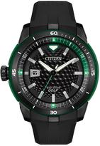 Citizen Green & Black Rubber-Strap Golf Bracelet Watch - Men
