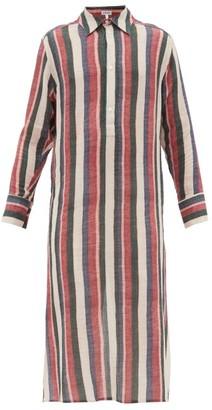 Loewe Striped Cotton Tunic - Mens - Pink Multi