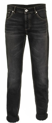 Brunello Cucinelli Grey Denim Five-pocket Traditional-fit Trousers