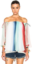 Chloé Rainbow Silk Crepon Blouse
