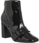 Office Archie Big Buckle Patent Boots