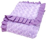 Trend Lab Kids Baby Infant Ruffle Trimmed Lilac And Plum Swirl Velour Receiving Blanket by