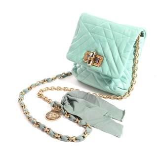 Lanvin Happy Blue Leather Handbags