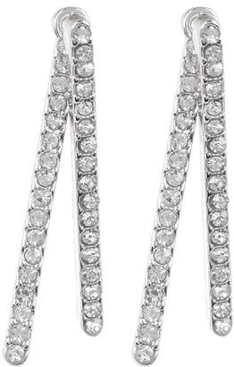 Vince Camuto Crystal Accented Bar Front to Back Earrings