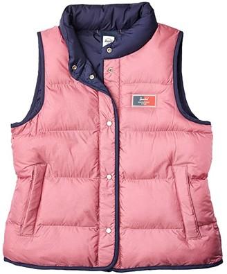 Herschel Featherless Reversible Vest (Peacoat/Heather Rose/Blue Mirage) Women's Clothing