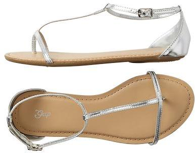 Gap Metallic T-bar sandals