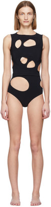 Rick Owens Black Layered Membrane Two-Piece Swimsuit