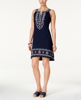 Style&Co. Style & Co Style & Co Petite Embroidered Dress, Created for Macy's