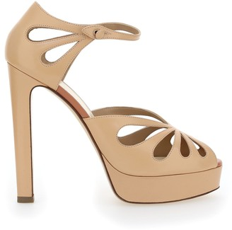 Francesco Russo Open Toe Platform Sandals