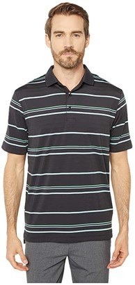 Callaway Engineered Roadmap Texture-Striped Polo (Caviar) Men's Clothing