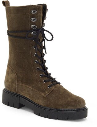 Vince Camuto Magjen Leather Combat Boot