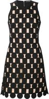 David Koma geometric panel dress
