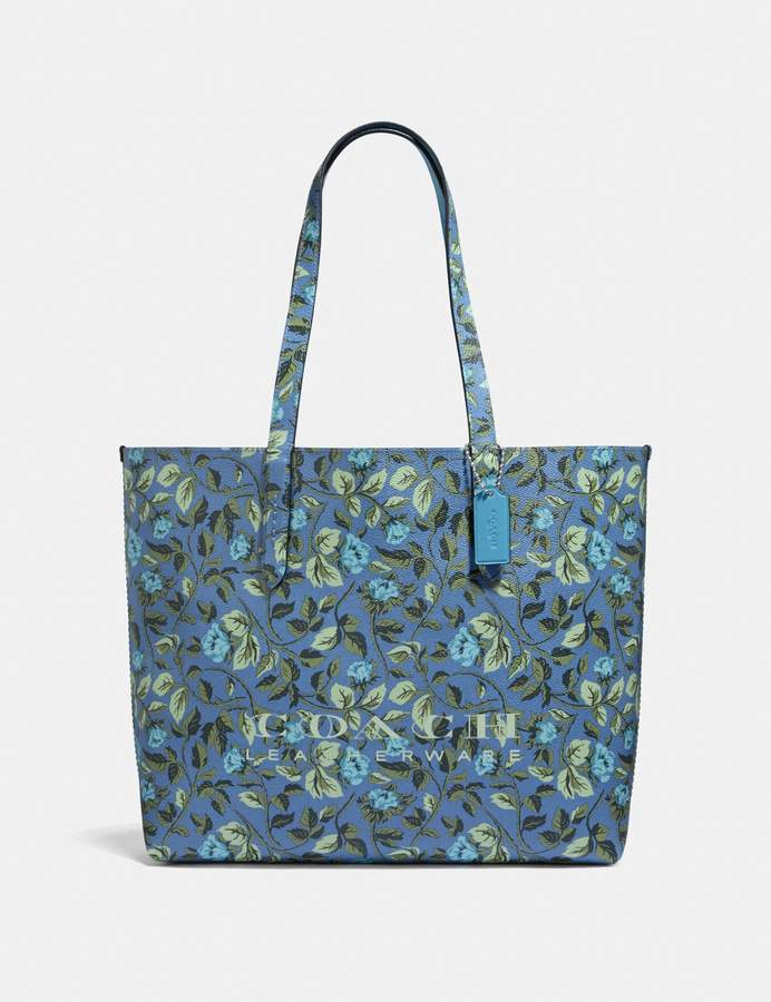 Coach Highline Tote With Floral Print