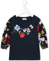 MonnaLisa Botanica floral print T-shirt - kids - Cotton/Spandex/Elastane - 4 yrs