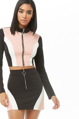 Forever 21 Colorblock Mini Skirt