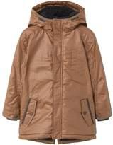 MANGO Boys Hooded Water-Repellent Coat