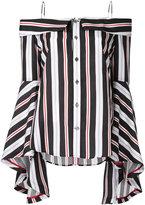G.V.G.V. Stripe off shoulder blouse - women - Rexcell - 36