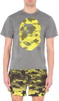 A Bathing Ape Monkey camo-print jersey t-shirt