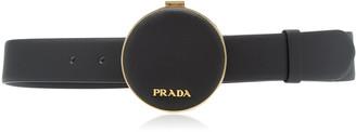Prada Saffiano Leather Round Belt Bag