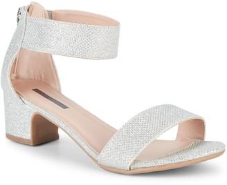 Stuart Weitzman Girl's Rosalyn Metallic Heeled Sandals