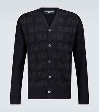 Comme des Garçons Homme Jacquard wool V-neck cardigan