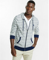 Express striped zip front hoodie