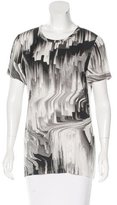 Vera Wang Printed Silk Top