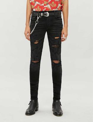 Amiri Thrasher ripped skinny stretch-denim jeans